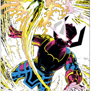 I'm not gonna show you the whole fight, but these splash pages are so good. (Excalibur #61)