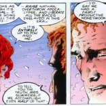 That is the face of a man who knows he will never, ever get to take a real vacation. (The Adventures of Cyclops and Phoenix #1)