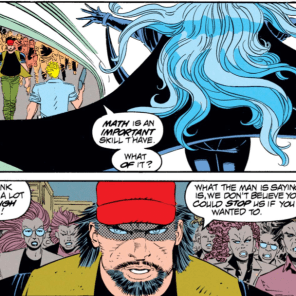 Should've known that guy was a racist asshole - look at the color of his baseball cap. (Uncanny X-Men #302)