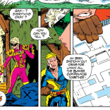 Cable is a very considerate home invader. (X-Force #25)