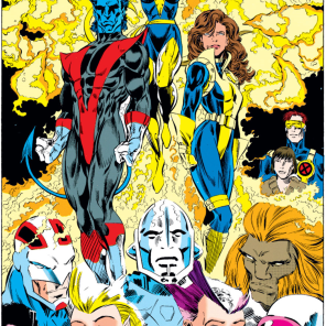 Has anyone ever rocked a blue-and-gold Phoenix costume? It's not half bad! (Excalibur #71)