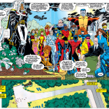 I'm curious about a lot of the inclusions and exclusions in this crowd. (Uncanny X-Men #304)