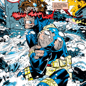 We're not sure if Cyclops's eyes actually do that when they're closed, but damn if it doesn't look cool. (X-Men Unlimited #1)