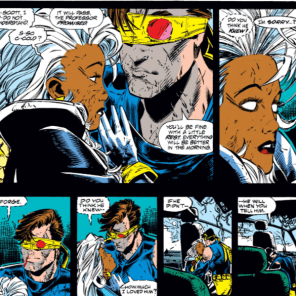 Cyclops and Storm: still one of my favorite, and one of the most under-appreciated, friendships in the Marvel Universe. (X-Men Unlimited #1)