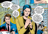 Gabrielle Haller's facial expression is its own set of speech bubbles. (X-Men Unlimited #2)