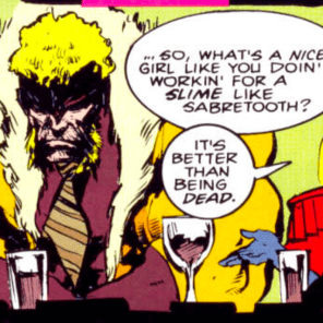 I appreciate this panel so damn much. (Sabretooth: Death Hunt #3)