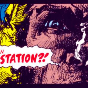 """""""Fetch the pestridder, Birdy--We've got ninjas in the rutabagas."""" (Sabretooth: Death Hunt #1)"""