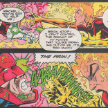 Yelling in the Timestream: The Brian Braddock and Rachel Summers Story. (Excalibur #74)