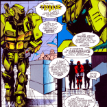 Tribune: Banker. Politician. Pundit. Supervillain. Definitely about to go to BotCon cosplaying his OC. (Sabretooth: Death Hunt #1)