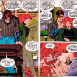 SCOTT: I understand what you see in Wolverine. His lust for life, his impulsive nature, his soulful eyes, his sensuous hands... JEAN: Well, this has taken a turn. (X-Men #28)