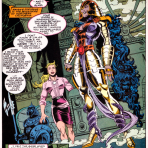 The snake shoes, in all their structurally questionable glory! (X-Factor #99)
