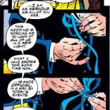 Keep this panel in case you ever need to tie a bow tie! (X-Men #30)