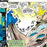 """It kind of feels like a waste that he didn't say """"Let me slip into something more comfortable."""" (X-Force #33)"""