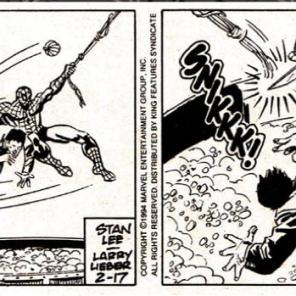 PUMPKIN BOMB WITH A KNIFE STICKING OUT OF IT FOR PRESIDENT (Spider-Man: the newspaper comic strip)