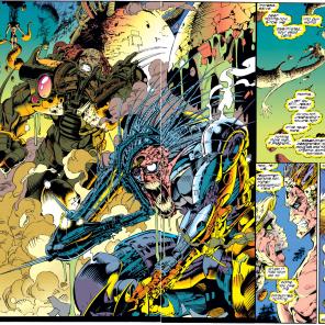 Familiar faces, and somewhat less familiar bodies. (X-Men #312)