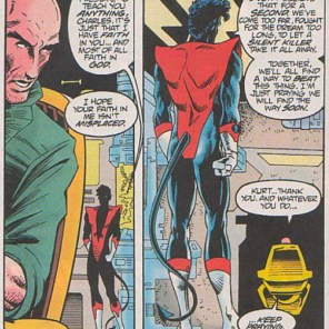 """But watch out if anyone approaches you about, like, becoming pope. That won't end well."" (Excalibur #80)"