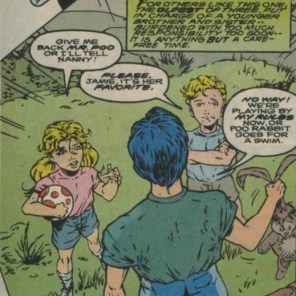 Jamie Braddock: terrible from the start. (Excalibur Annual #2)