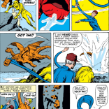 Imagine this, but with scissor-cut holes where the monsters used to be. (Fantastic Four #12)