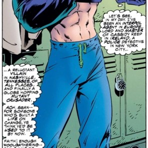 There they are, folks: Banshee's abs. (Uncanny X-Men #316)