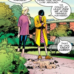 Seriously, though, that is really gross. (Generation X #1)