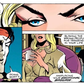 James, I know you think you're tough, but you are absolutely unequipped for a snark fight with Emma Frost. (X-Force #42)