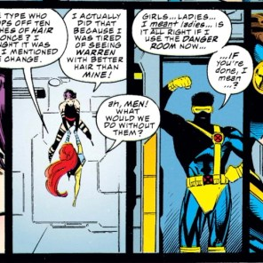 """I, um, think I might have left something in Alaska. Bye."" (X-Men #38)"