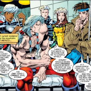 The X-Men's presence is about 50/50 concern/ogling. (X-Men: Chronicles #2)