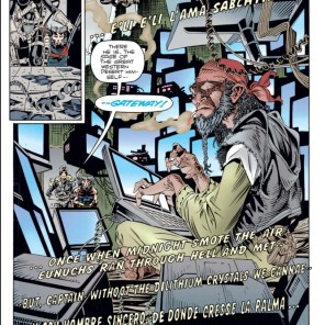 This version of Gateway is really cool, and deserves both more page space and more analysis than he gets. (Weapon X #3)