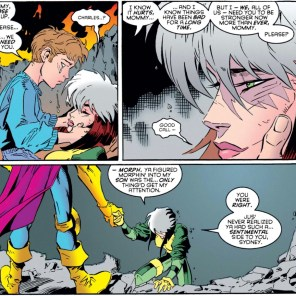 Morph is a goof, but he's also by far the most emotionally literate of the X-Men. (Astonishing X-Men #4)
