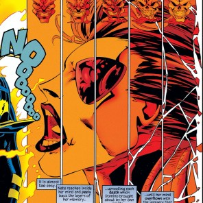 Steve Skroce, making psychic powers look amazing since 1993. (Anyone remember Ectokid?) (X-Man #3)