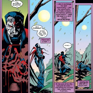 """""""To die will be an awfully big adventure."""" (X-Man #4)"""