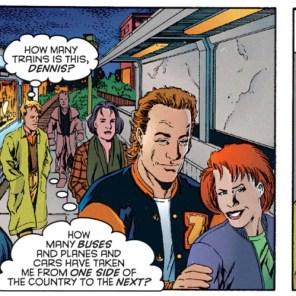 Dennis is his own disparaging narrator. (X-Men Prime #1)