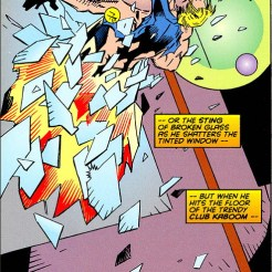 How else is someone in an X-Factor comic supposed to enter a room? Through the door? (X-Factor #112)