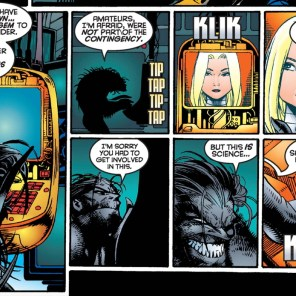 You may have a lot of monitors, Dark Beast, but you'll never top Cameron Hodge as Quintessential Villain with a Roomful of Monitors. (Generation X #6)