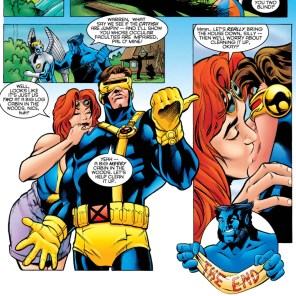 In all fairness, I'm not sure I'd want to be naked in Teen Hank and Bobby's makeouts cabin without cleaning first, either. (X-Men Annual 1995)