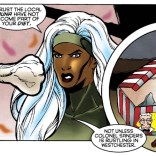 That is some weird-ass product placement. (Storm #1)