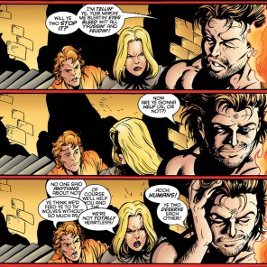 """Acch, humans! I used to be one of you until Scott Lobdell got confused! Or maybe I didn't! It's ambiguous!"" (Generation X #9)"
