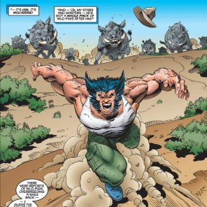 NO, SERIOUSLY: 30-50 FERAL HOGS. (X-Men Unlimited #9)