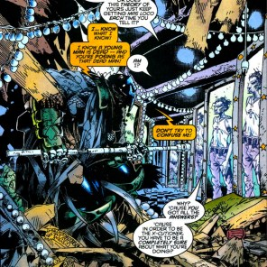 The genre-requisite hall of mirrors. (Generation X #17)
