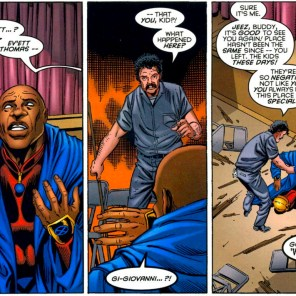 I am happy and surprised to announce that Giovanni survives the story pretty much unscathed! (Generation X #15)