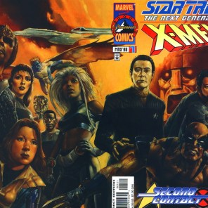 Several hundred years later... (Star Trek: The Next Generation / X-Men: Second Contact)