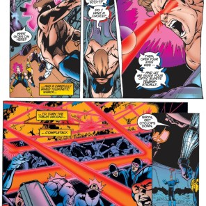 It's really not any harder to believe than anything else in this comic. (X-Force #55)