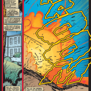 And there goes another Xavier school! (X-Force #57)