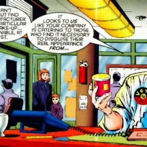 """Next, we're gonna shut down Blue Man Group."" (X-Men Unlimited #11)"
