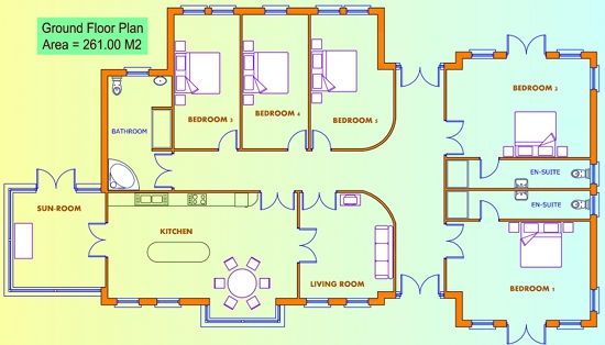5 bedroom house floor plans uk for 4 bed house plans uk