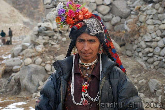 Local Lady at Dha Village, Ladakh, India