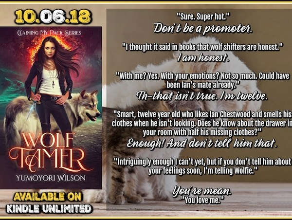 Wolf Tamer available on kindle unlimited