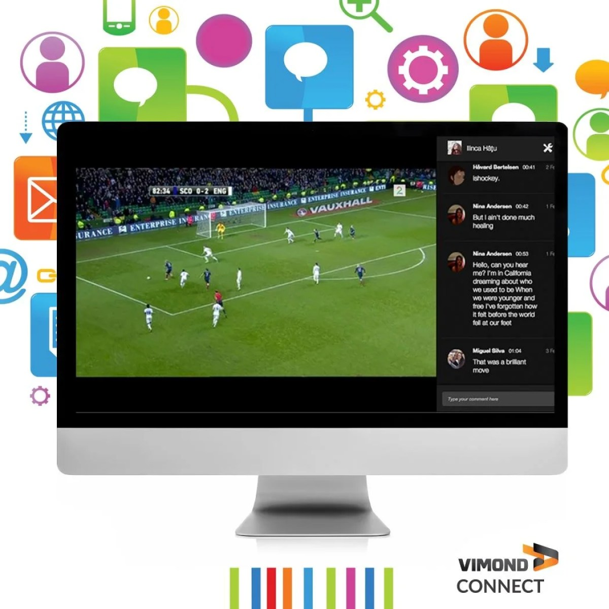 Vimond Connect official with creative background