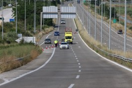 Εργασίες συντήρησης στην Εθνική Οδό Θεσσαλονίκης-Καβάλας