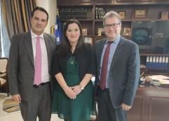 Συνάντηση της Διευθύνουσας Συμβούλου, του Ο.Λ.Κ. κ Α. Α. Θυσιάδου, με τον Αντιπεριφερειάρχη Καβάλας, κ. Κ. Αντωνιάδη